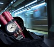 time bomb inside a backpack in subway station